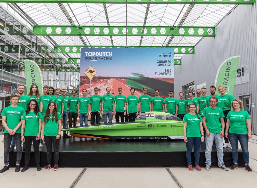 Onthulling zonneauto Top Dutch Solar team