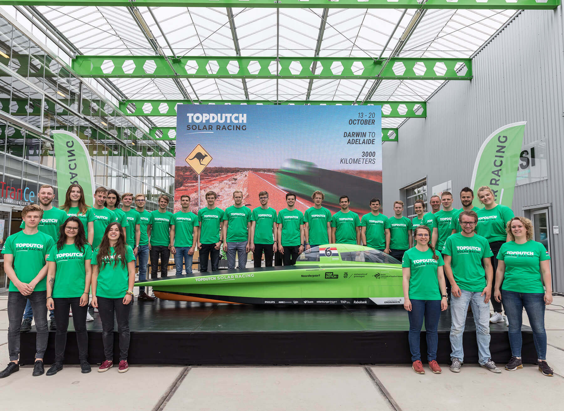 Onthulling zonneauto Top Dutch Solar team